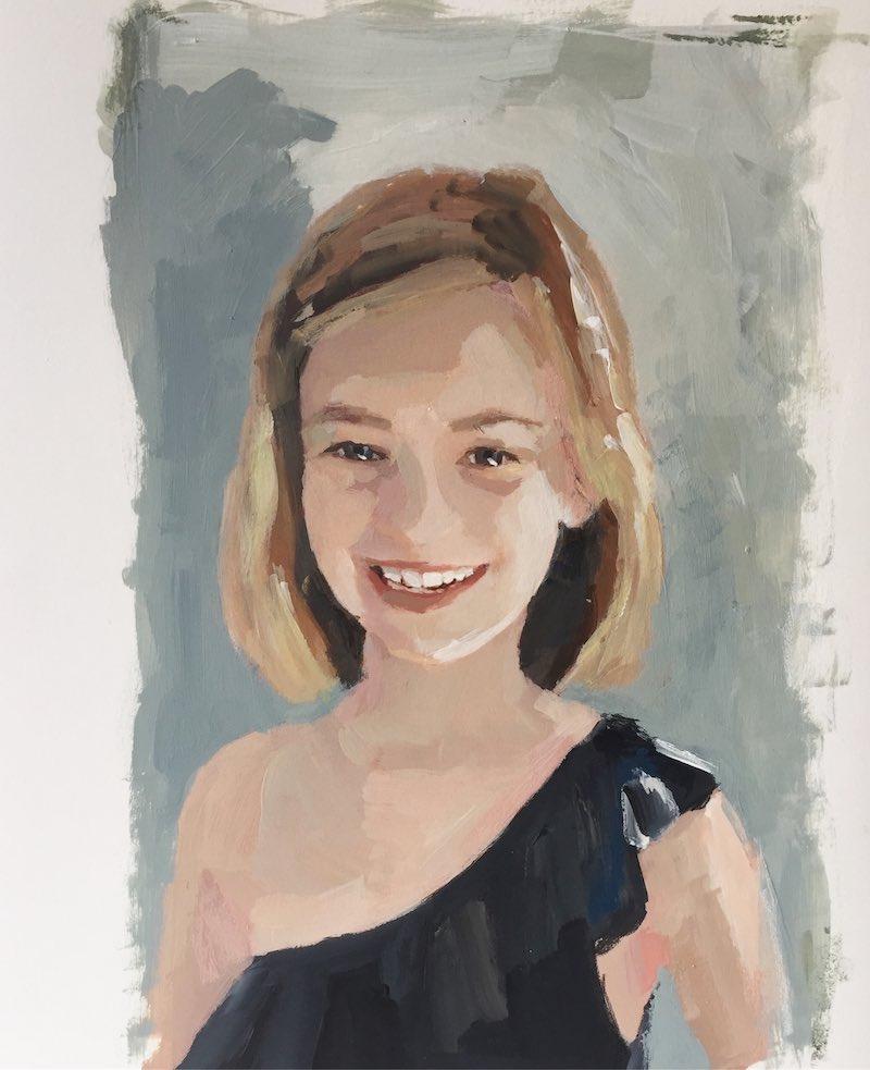 comprar retrato niña