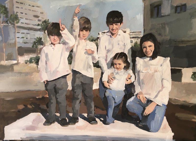 pintar retrato de familia