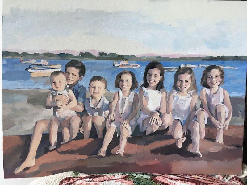 retratos de niños
