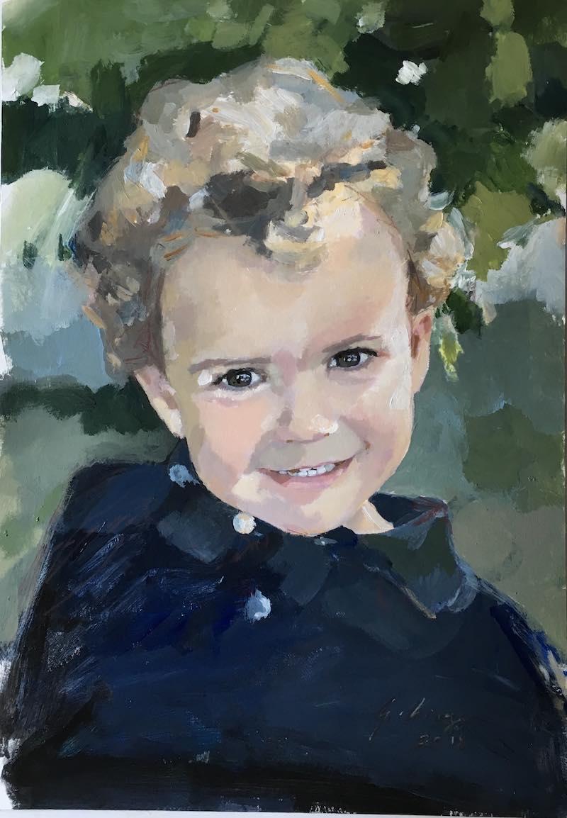 retratos pintados a mano