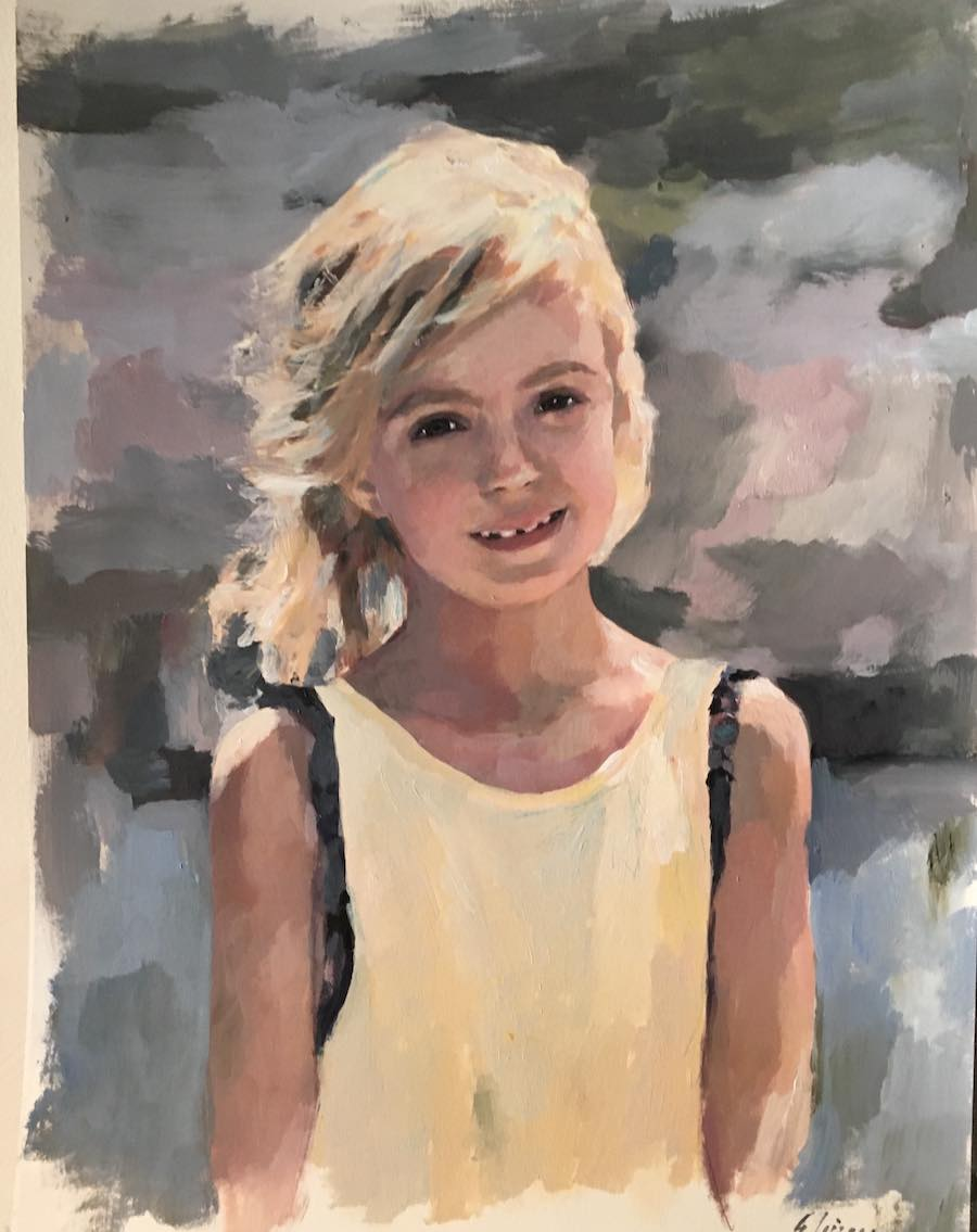 retratos pintura
