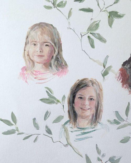 arbol de familia pintado