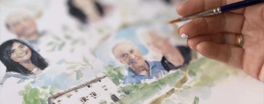 pintando retratos de fotos